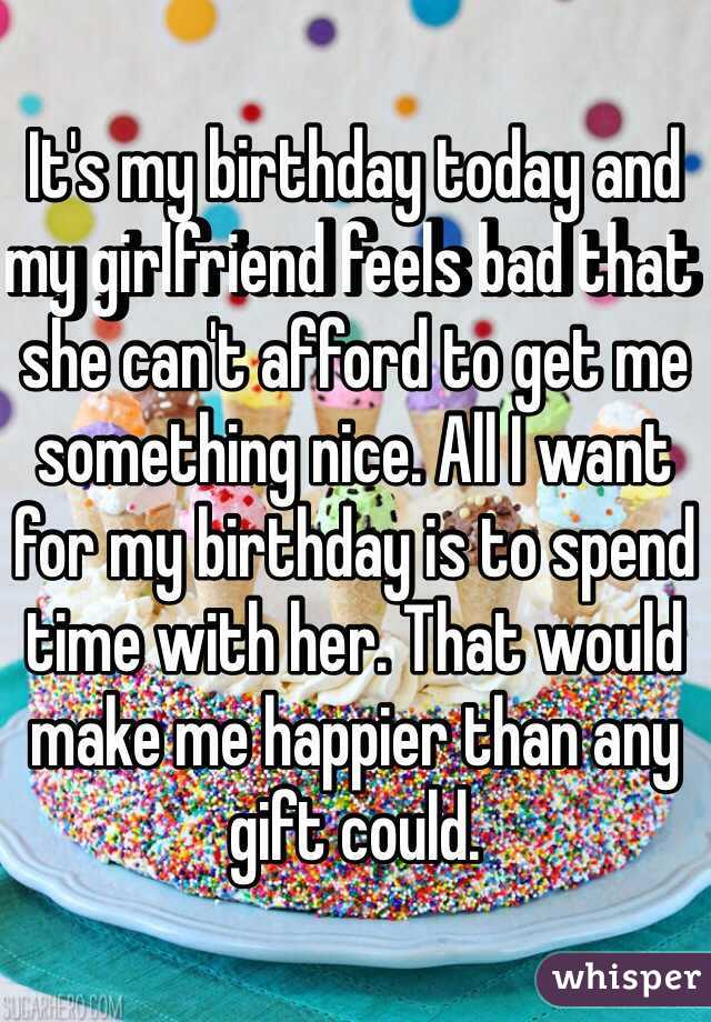 I Wish To Do Something Nice For My Girlfriend