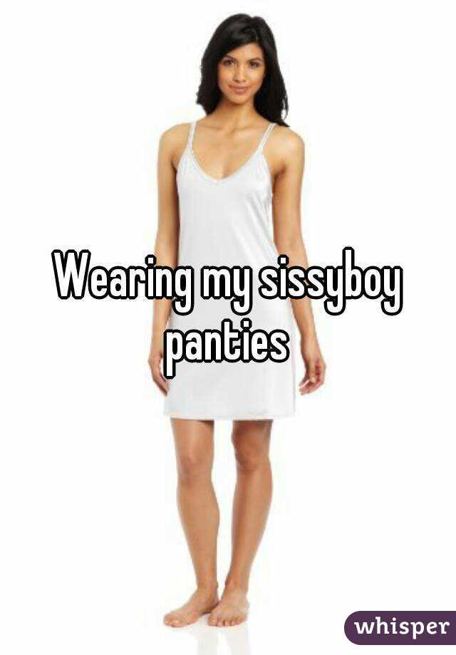 Sissy Boy Wearing Panties