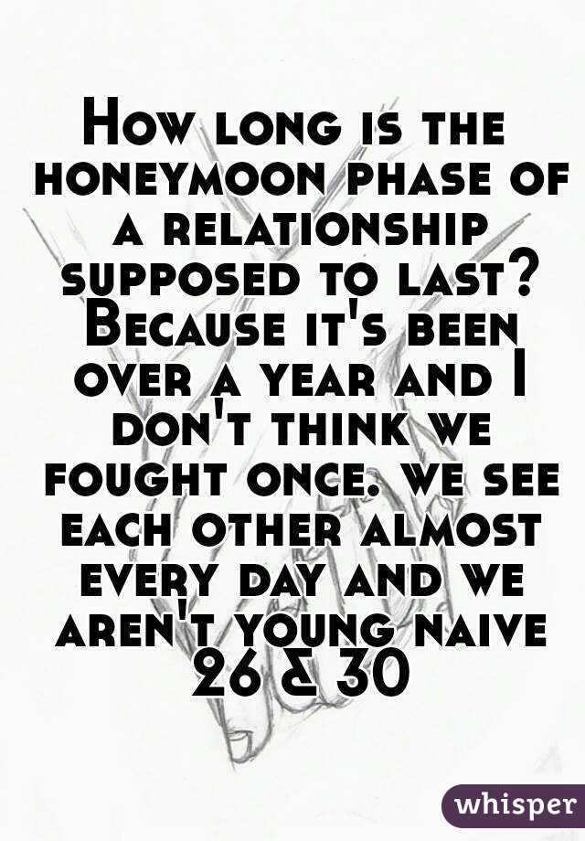 How long is the honeymoon phase of a relationship supposed