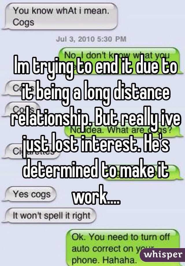 Long distance relationship losing interest