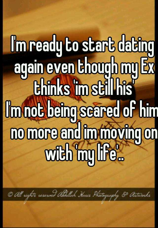 How to start dating him again