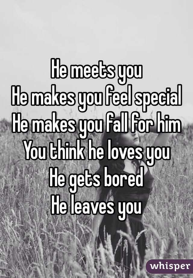 when he leaves you