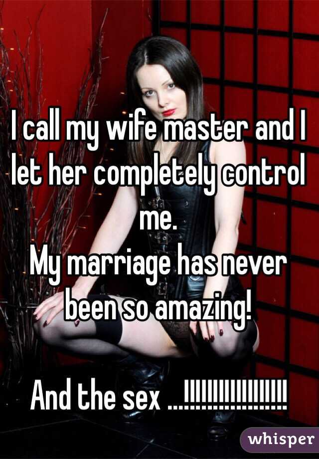 Wife in control sex