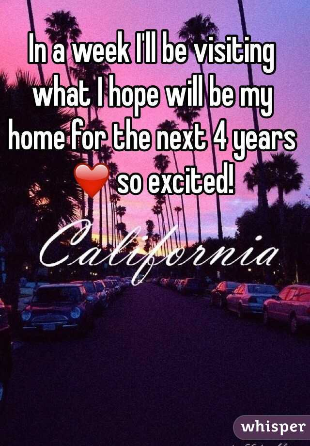 In a week I'll be visiting what I hope will be my home for the next 4 years ❤️ so excited!