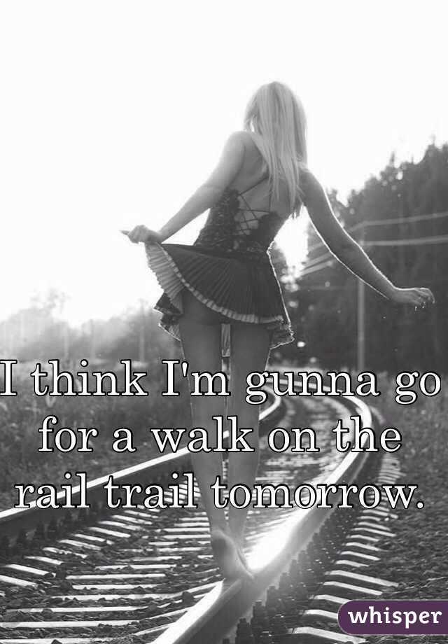 I think I'm gunna go for a walk on the rail trail tomorrow.