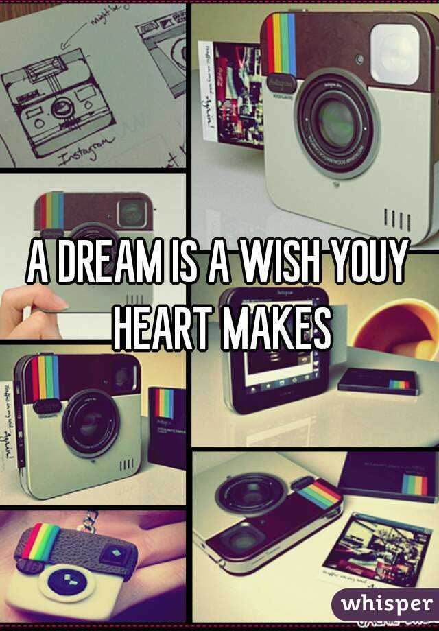 A DREAM IS A WISH YOUY HEART MAKES