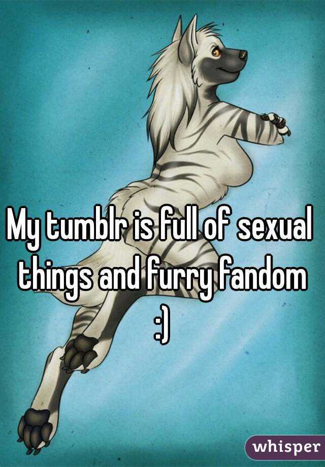 My tumblr is full of sexual things and furry fandom :)