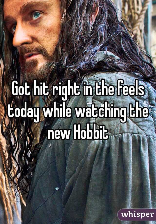 Got hit right in the feels today while watching the new Hobbit