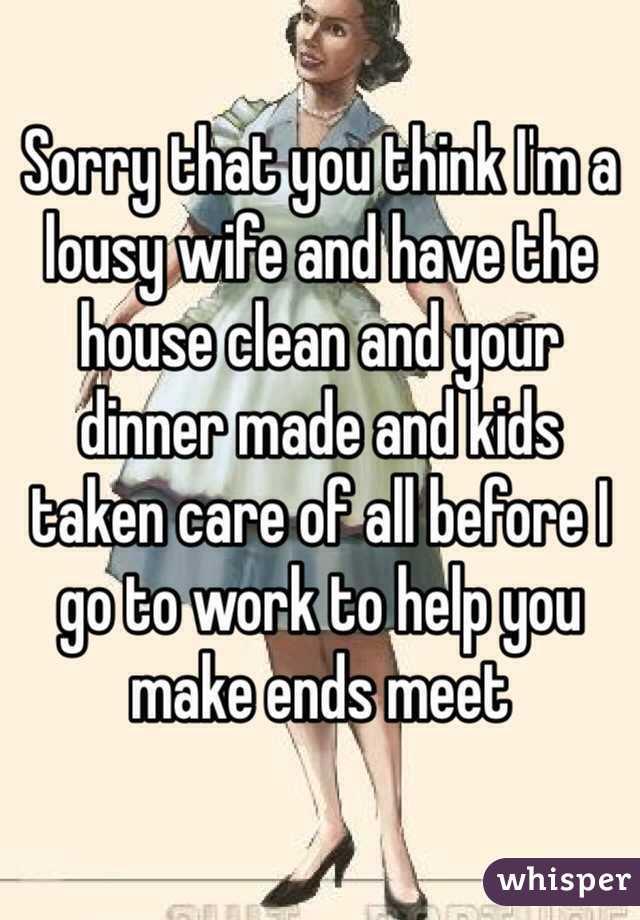 Lousy wife