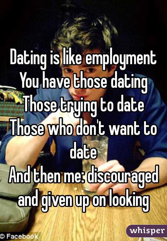 Discouraged from dating