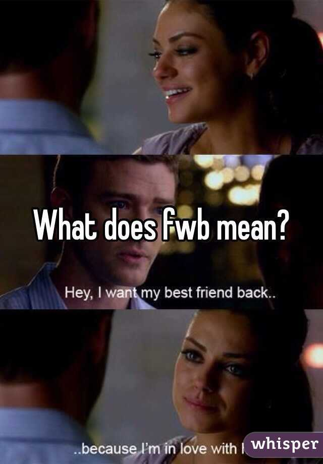 what does fwb stand for in dating