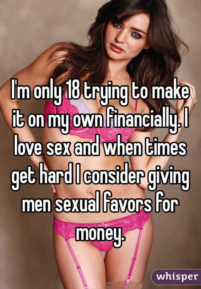 Sexual favors for money