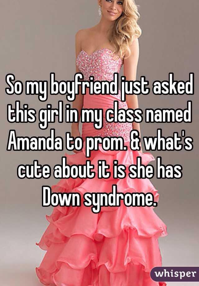 my boyfriend has down syndrome