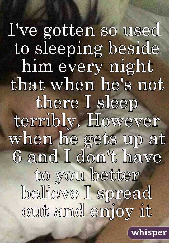 When to sleep with him