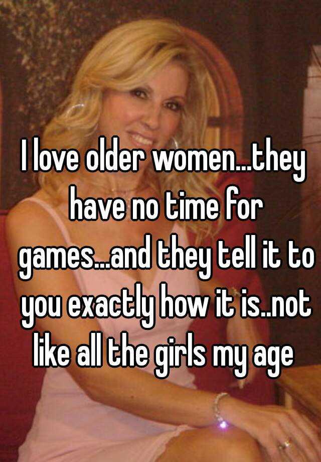 How to meet older women