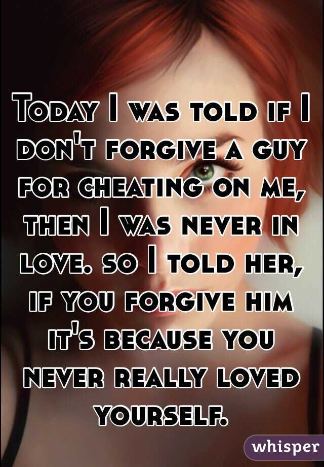 Can you ever forgive a cheater