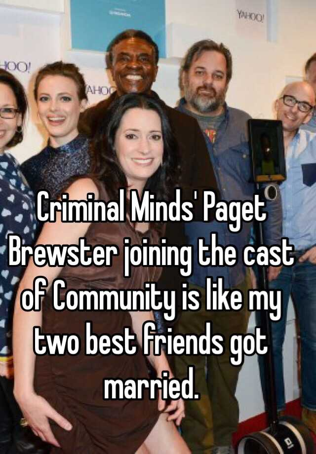 criminal minds paget brewster joining the cast of community is like