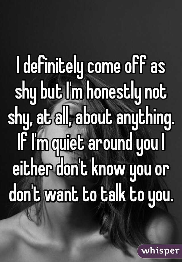 With you i m not shy