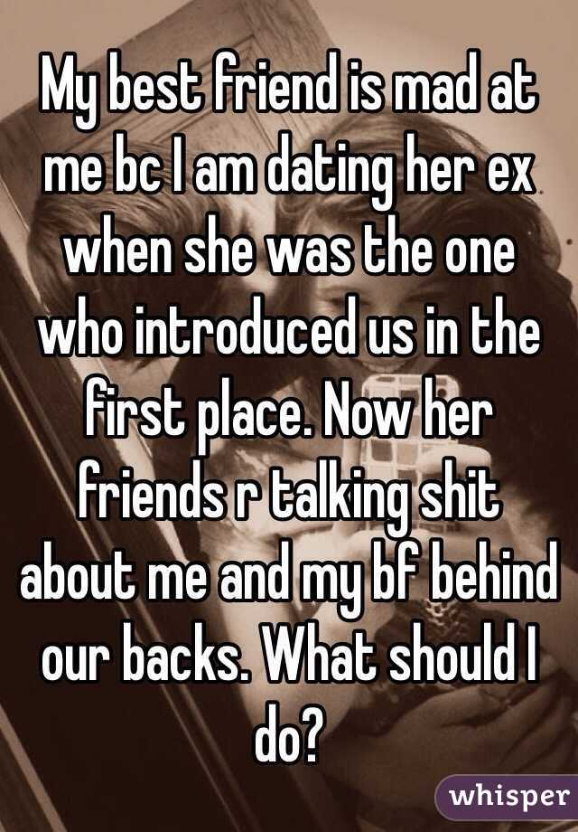 My ex is dating my friend what should i do