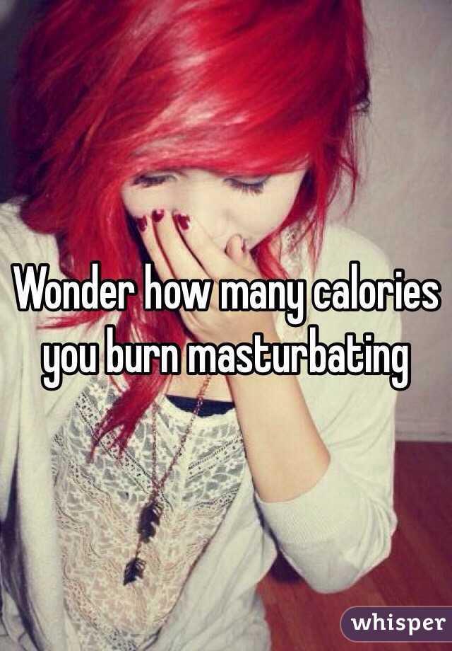 How many calories are burned masturbating