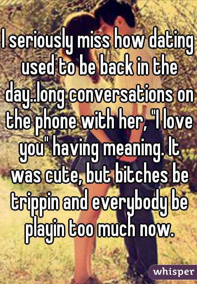 How dating used to be