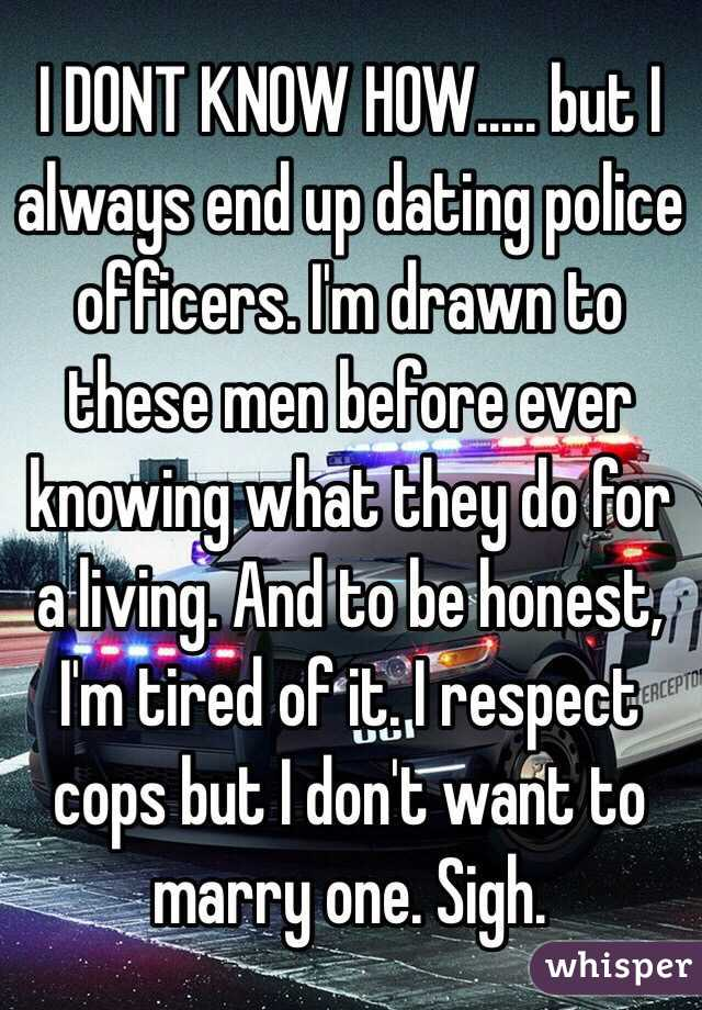 What to know before dating a cop