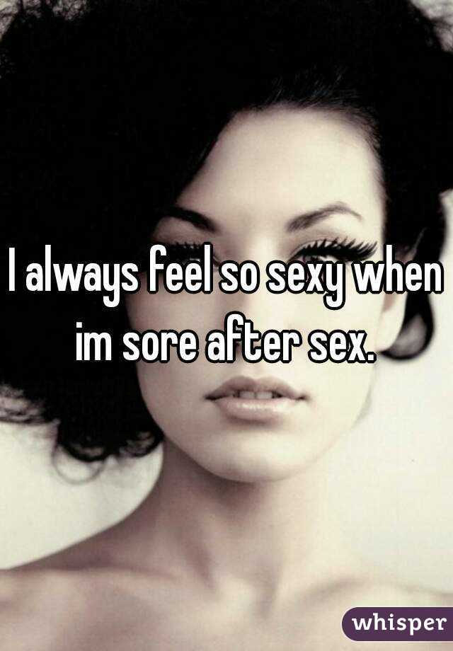 Why am i sore after sex