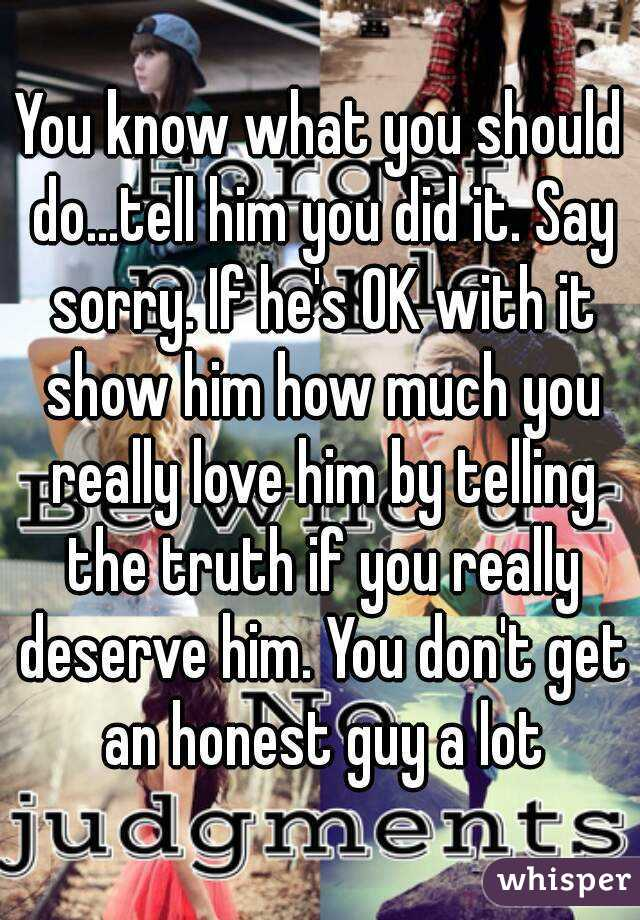 How to know if hes really sorry