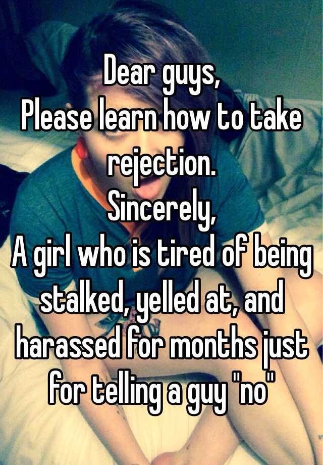 How to take rejection from a guy
