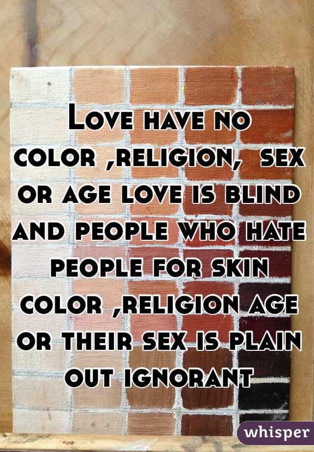 Love sex religion