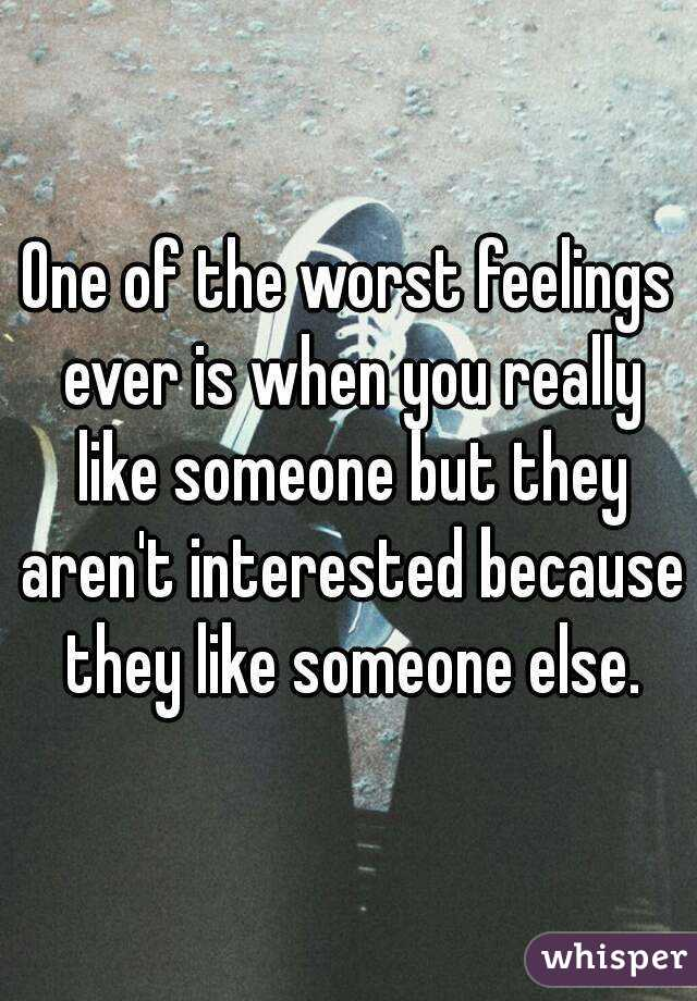when you like someone else