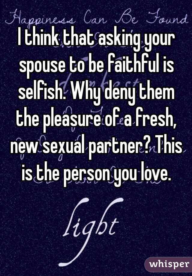 Faithful spouse