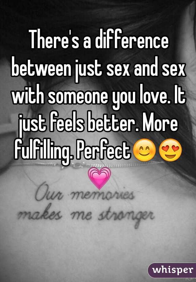 Relation between love and sex better