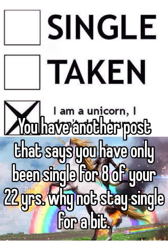 single or taken post)