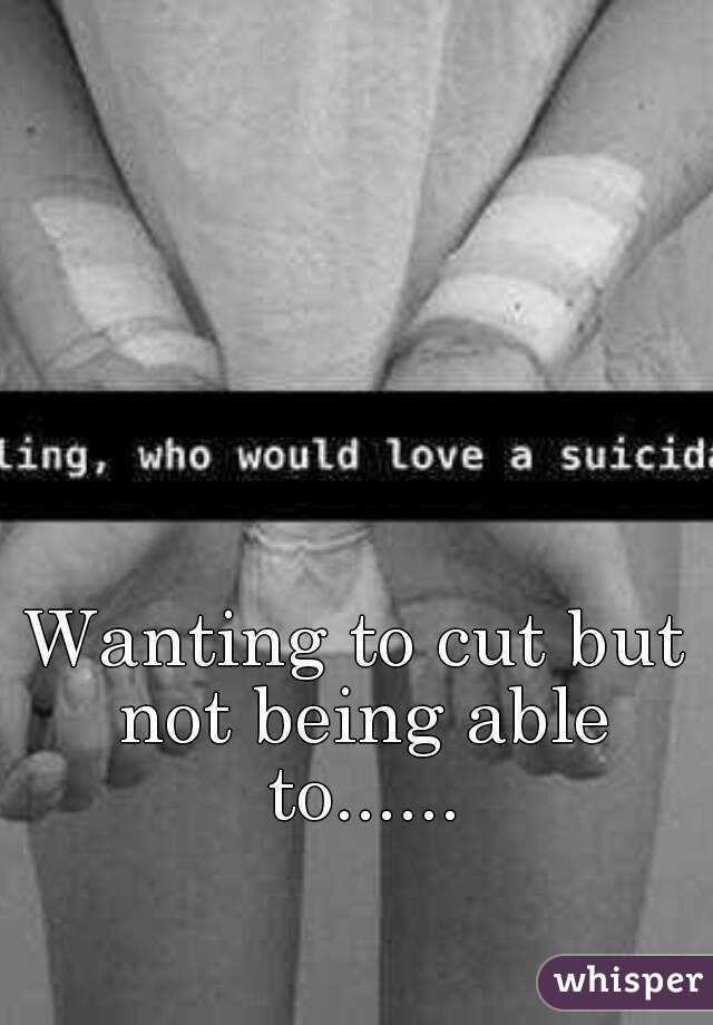 Wanting to cut but not being able to......
