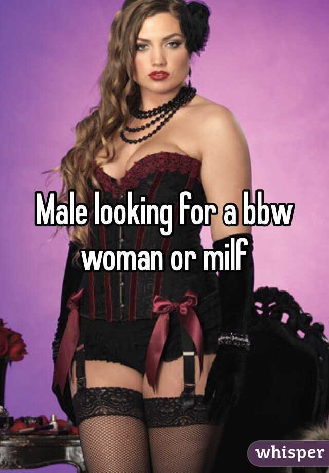 Male looking for a bbw woman or milf