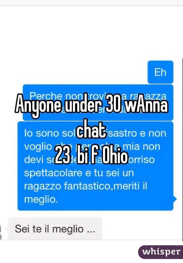Anyone under 30 wAnna chat  23  bi f Ohio