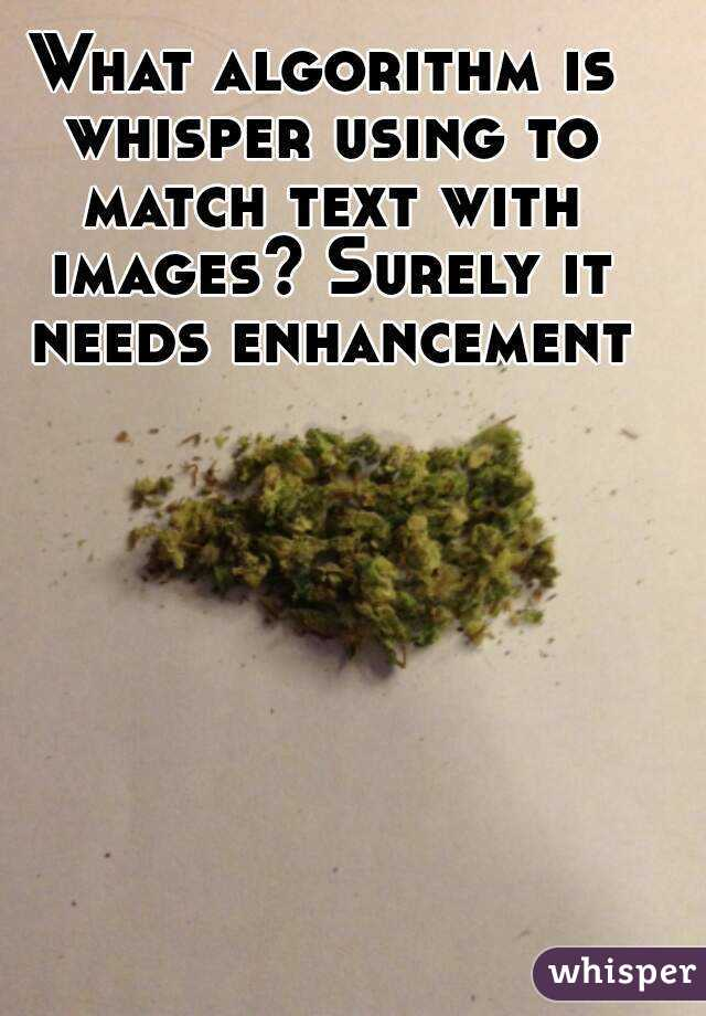 What algorithm is whisper using to match text with images? Surely it needs enhancement