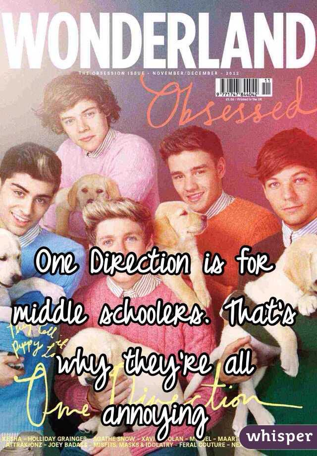 One Direction is for middle schoolers. That's why they're all annoying