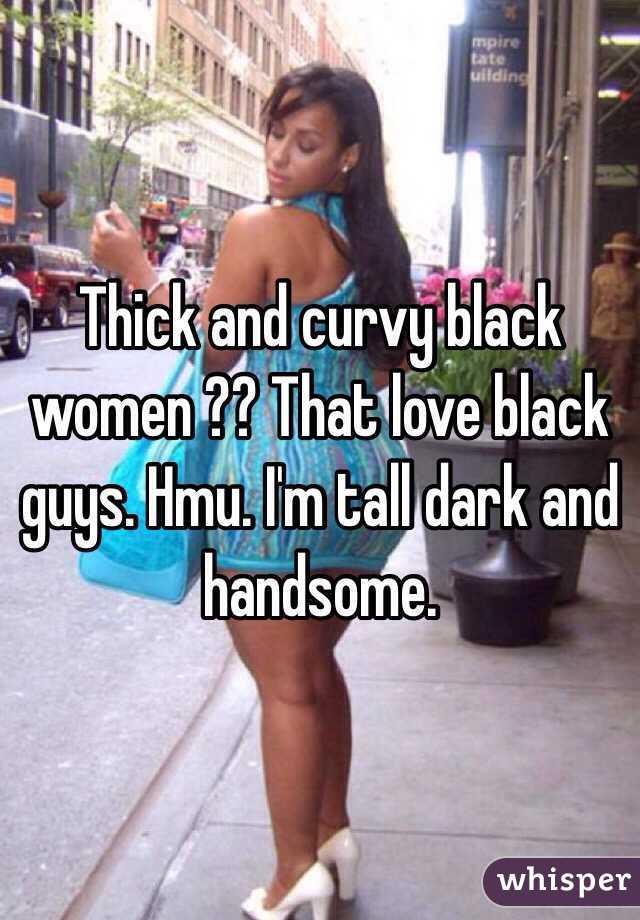 Tall thick black women