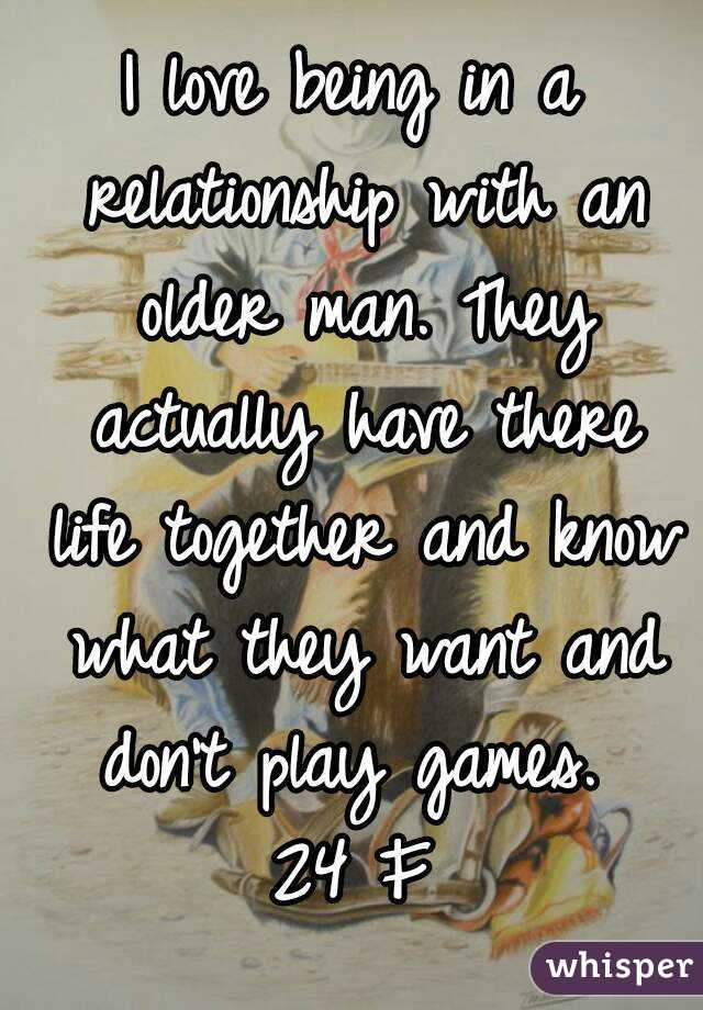 Being in a relationship with an older man