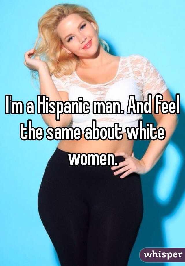 Hispanic men and white women