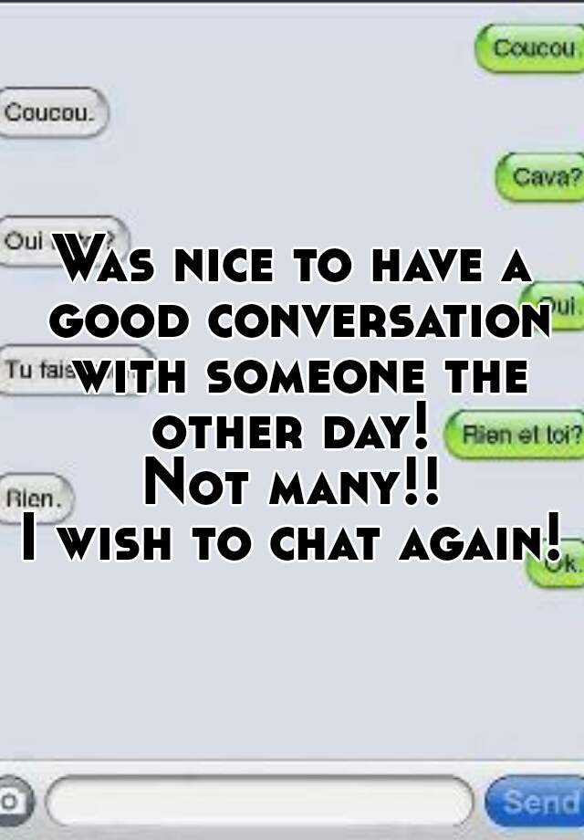 How To Have A Conversation With Someone