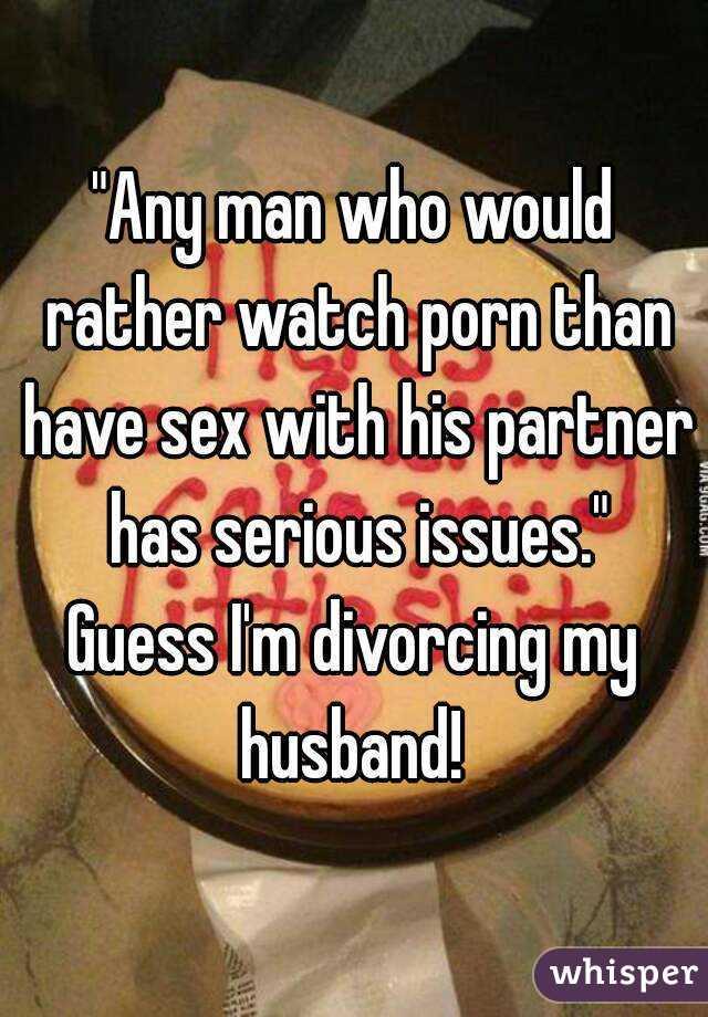 Should married men watch porn