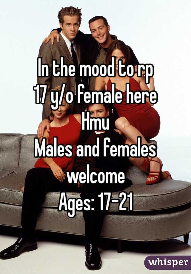 In the mood to rp 17 y/o female here Hmu Males and females welcome Ages: 17-21