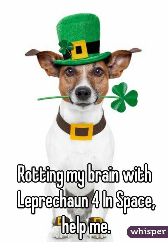 Rotting my brain with Leprechaun 4 In Space, help me.
