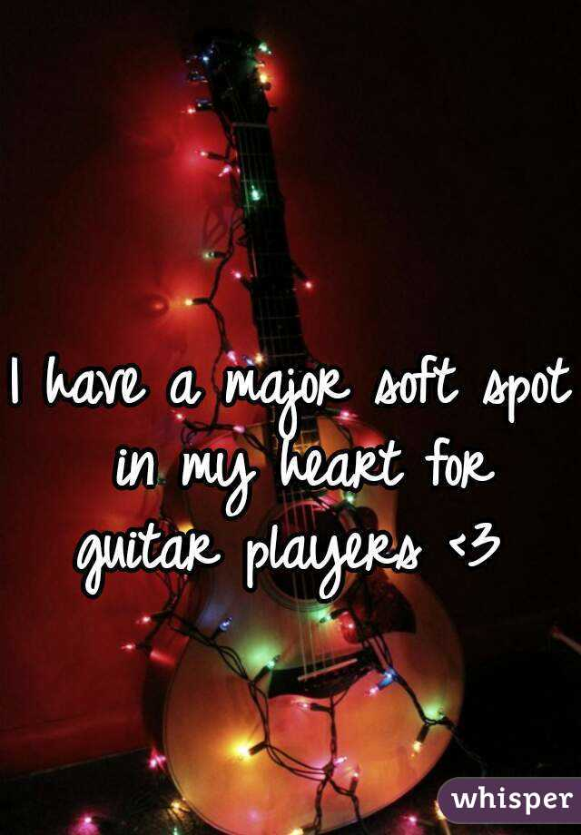I have a major soft spot in my heart for guitar players <3