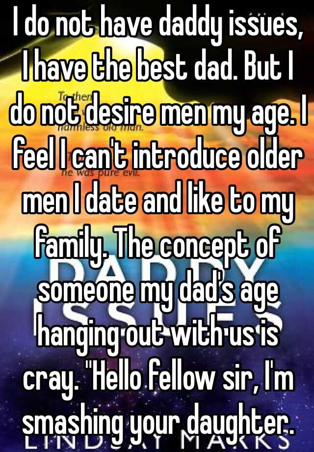 dad dating someone my age