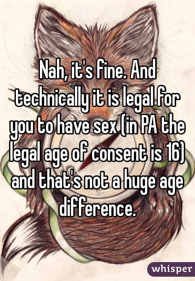 In pa legal age to consent to have sex