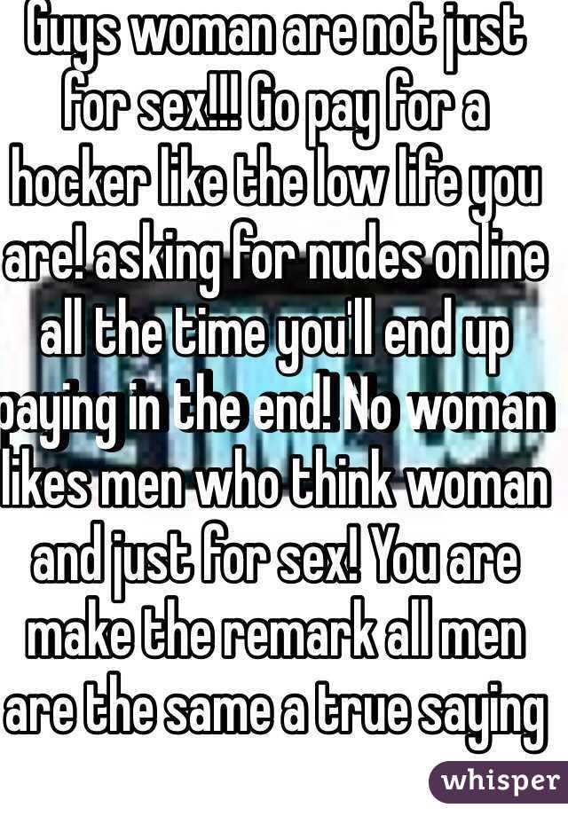 Men paying for sex